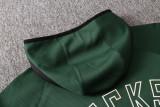 Milwaukee Bucks Green Full-Zip trake Hoodie Jacket and Pants H007