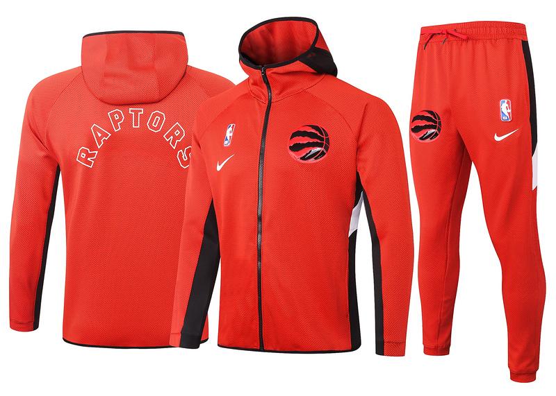 Toronto Raptors Red Full-Zip trake Hoodie Jacket and Pants H020