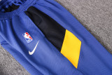 Golden State Warriors Blue Full-Zip trake Hoodie Jacket and Pants H014