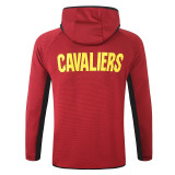 Cleveland Cavaliers Purplish Red Full-Zip trake Hoodie Jacket and Pants H021