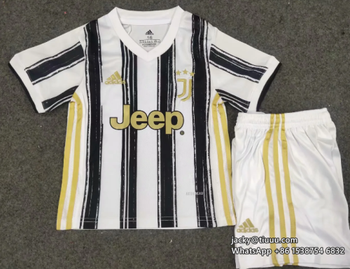 Juventus 20/21 Kids Home Soccer Jersey and Short Kit