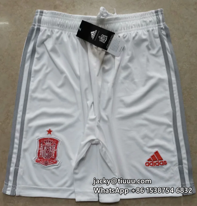 Thai Version Spain 2020 Away Soccer Shorts
