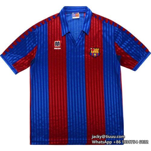 Barcelona 1991-1992 Home Retro Football Jersey