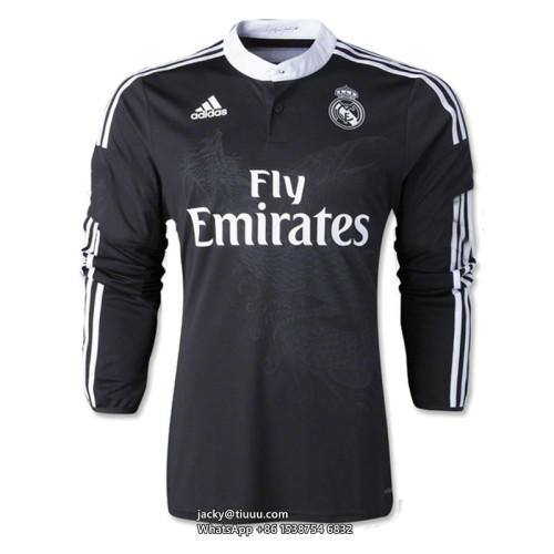 Real Madrid 2014-2015 Third Retro L/S Jersey