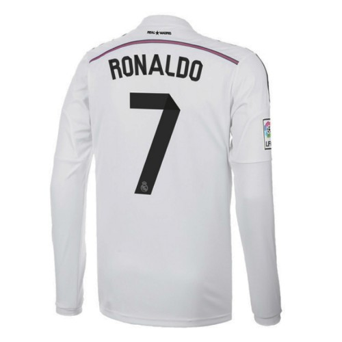 Real Madrid 2014-2015 Ronaldo Home Retro L/S Jersey