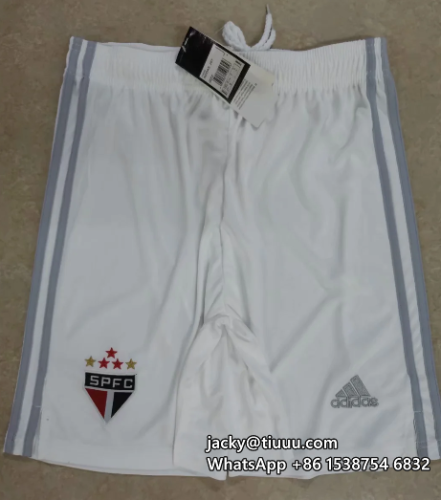 Thai Version Sao Paulo 20/21 Home Soccer Shorts