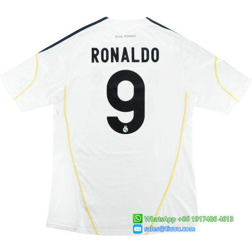 Real Madrid 2009-2010 Ronaldo #9 Home Retro Jersey