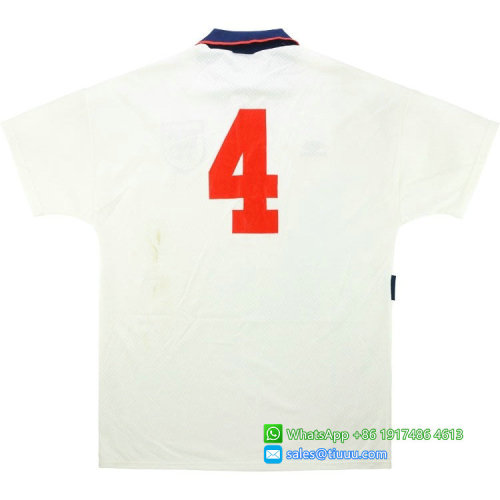 England 1993-94 Cox Home Retro Jersey