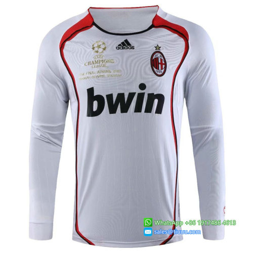 AC Milan 2006/2007 Away LS Retro Soccer Jerseys