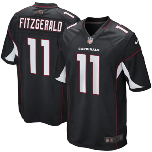 Youth Arizona Cardinals Larry Fitzgerald Black Alternate Game Jersey