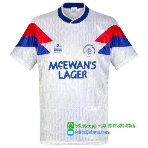 Rangers 1990-1992 Away Retro Soccer Jersey