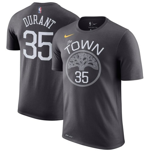 Men's Golden State Warriors Kevin Durant Gray Name & Number Statement Performance T-Shirt