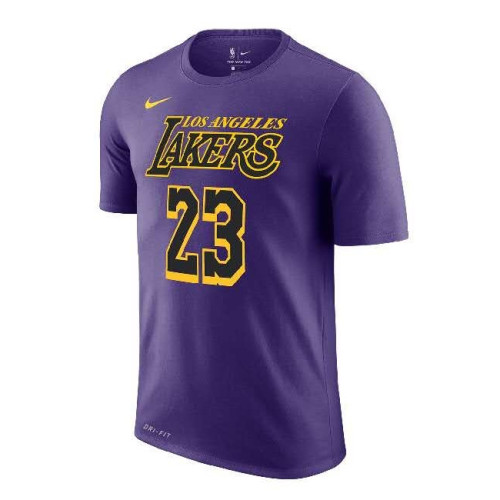 Men's Los Angeles Lakers LeBron James City Edition Name & Number T-Shirt
