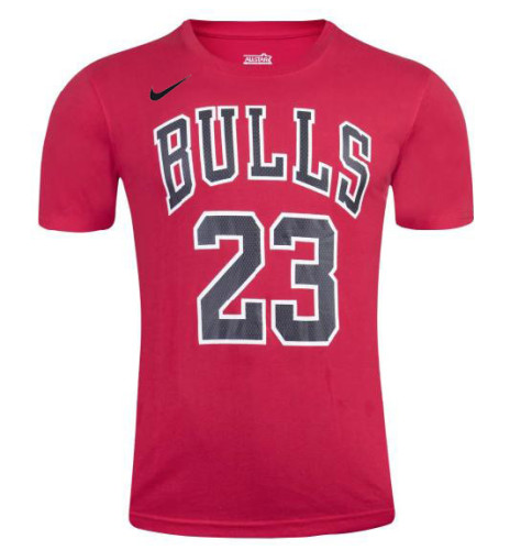 Men's Chicago Bulls Michael Jordan Red Classic Retro T-Shirt