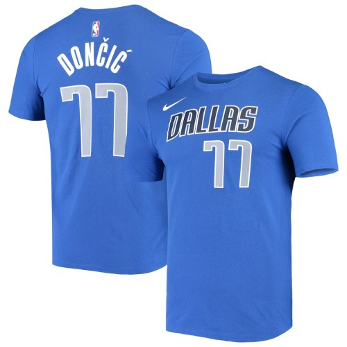 Men's Dallas Mavericks Luka Doncic Blue Statement Edition Name & Number Performance T-Shirt