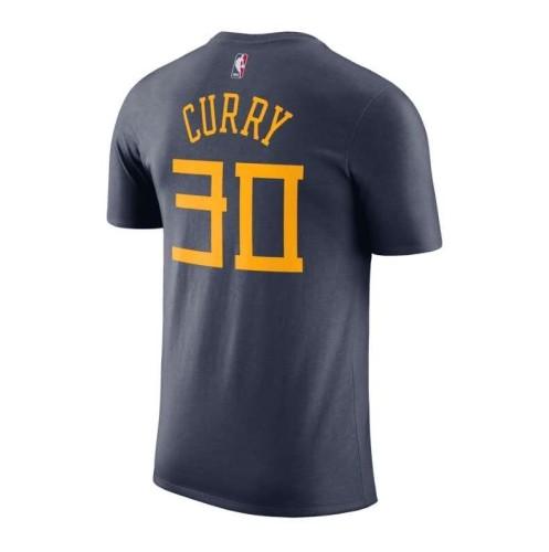 Men's Golden State Warriors Stephen Curry City Edition Navy Blue T-Shirt