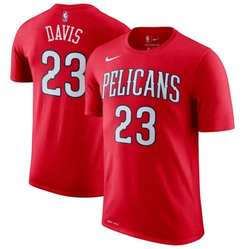 Men's New Orleans Pelicans Anthony Davis Red Performance T-Shirt