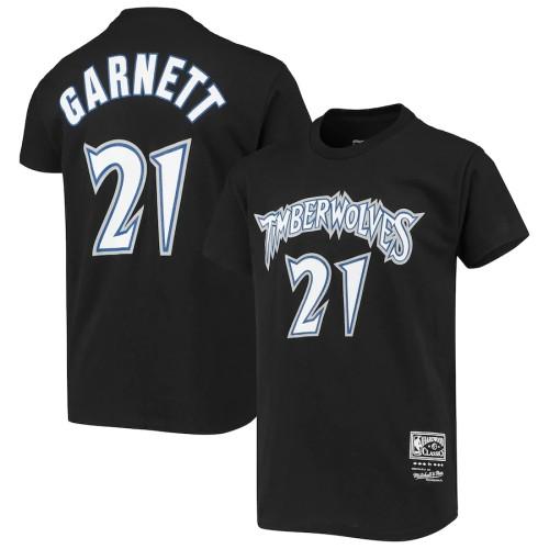 Men's Minnesota Timberwolves Kevin Garnett Black Retro Classics Name & Number T-Shirt