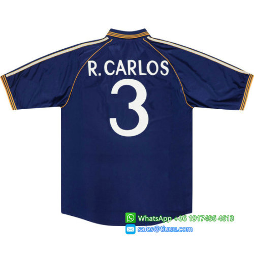 Real Madrid #3 R.Carlos 1998-1999 Third Retro Jersey
