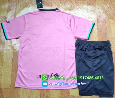 Barcelona 20/21 Soccer Jersey and Short Kit - Pink
