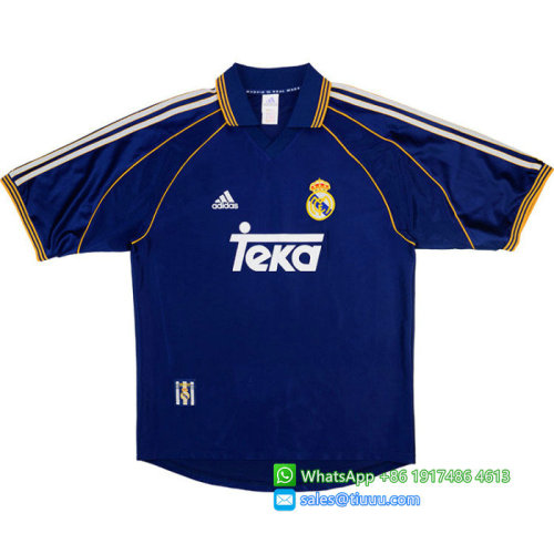 Real Madrid #7 Raul 1998-1999 Third Retro Jersey