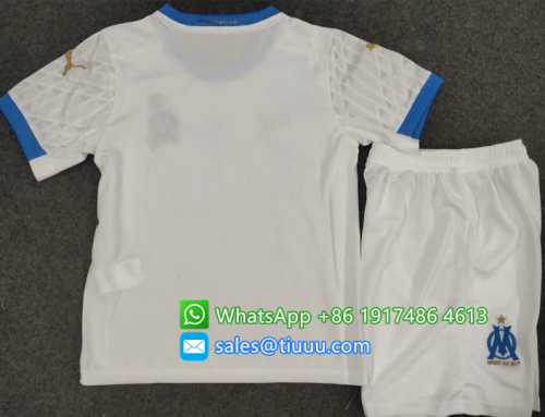Olympique Marseille 20/21 Kids Home Soccer Jersey and Short Kit