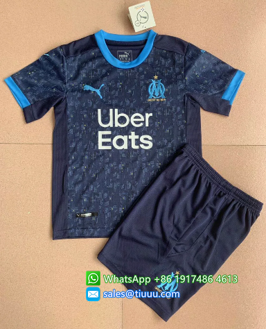 Olympique Marseille 20/21 Away Soccer Jersey and Short Kit
