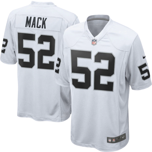 Youth Las Vegas Raiders Khalil Mack White Game Jersey