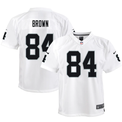 Youth Las Vegas Raiders Antonio Brown White Game Jersey