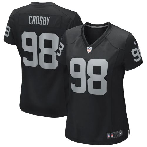 Women's Maxx Crosby Black Las Vegas Raiders Game Jersey