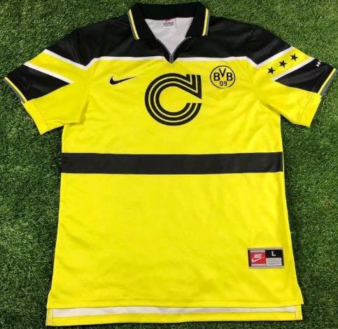 Dortmund 1997 UCL Home Retro Jersey
