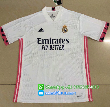 Thai Version Real Madrid 20/21 Home Soccer Jersey