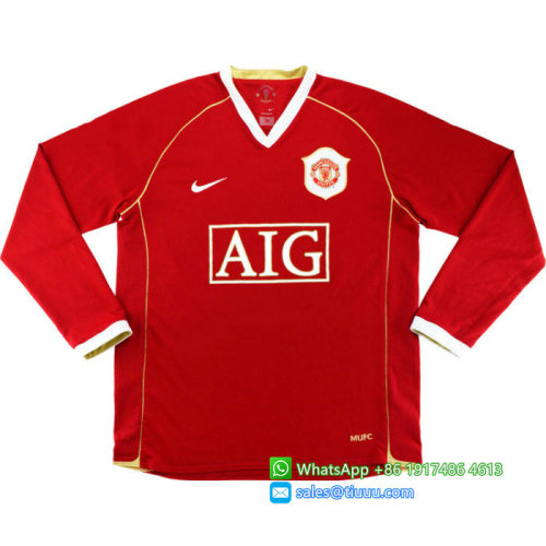Manchester United 2006/2007 Home Retro L/S Jersey