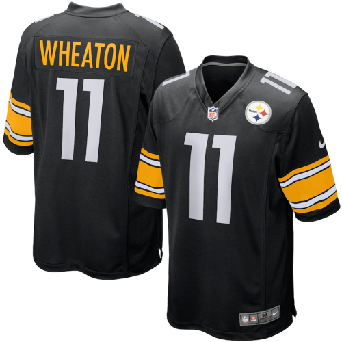 Mens Pittsburgh Steelers Markus Wheaton Black Game Jersey
