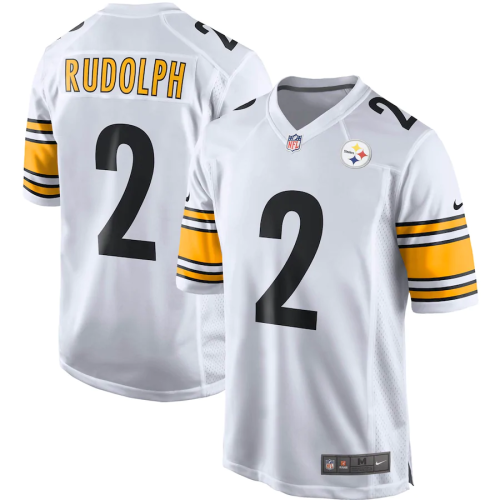 Men's Pittsburgh Steelers Mason Rudolph White Game Jersey