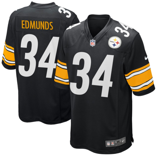 Men's Pittsburgh Steelers Terrell Edmunds Black Game Jersey