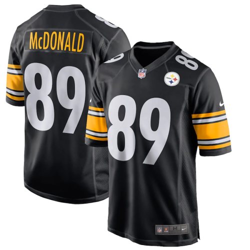 Men's Pittsburgh Steelers Vance McDonald Black Game Jersey
