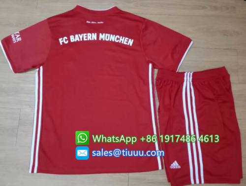 Bayern Munich 20/21 Home Soccer Jersey and Short Kit