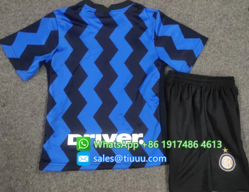 Inter Milan 20/21 Kids Home Soccer Jersey and Short Kit