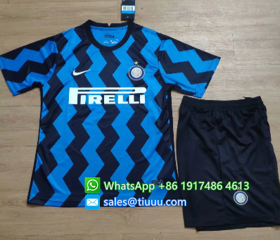 Inter Milan 20/21 Home Soccer Jersey and Short Kit