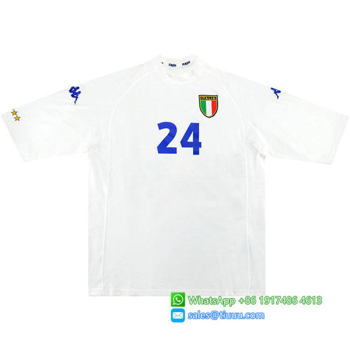 Italy 2000/01 Away Retro Soccer Jersey #24 Delvecchio