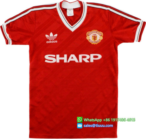 Manchester United 1986-88 Home Retro Jersey