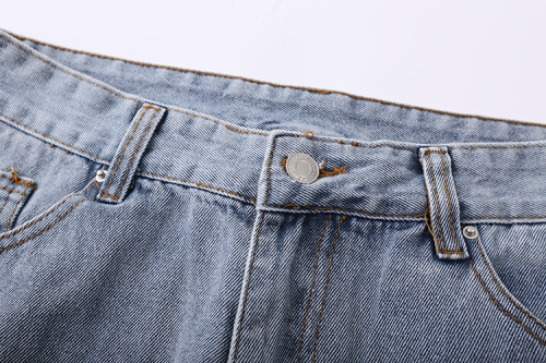 2020 Summer Fashion Denim Pants Blue