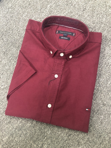 Men's Classics Short Sleeve Purplish red Shirt