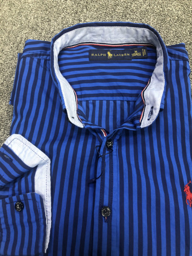 Men's Classics Long Sleeve Blue Stripe Shirt