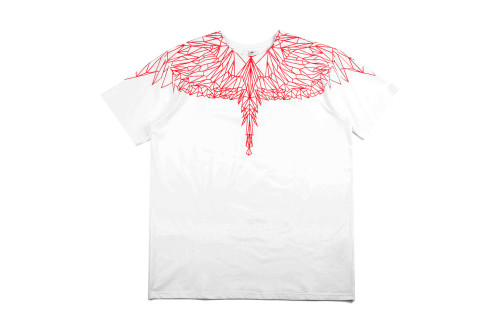 2020 Summer Fashion Wing T-shirt White+ Red