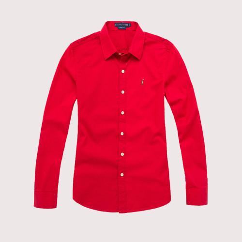 Women's Classics Long Sleeve Red Shirt