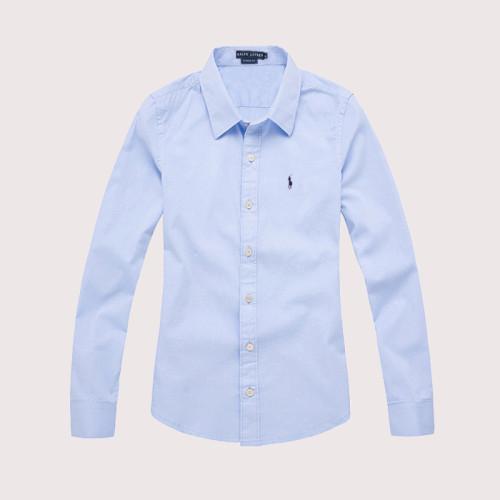 Women's Classics Long Sleeve Blue Shirt
