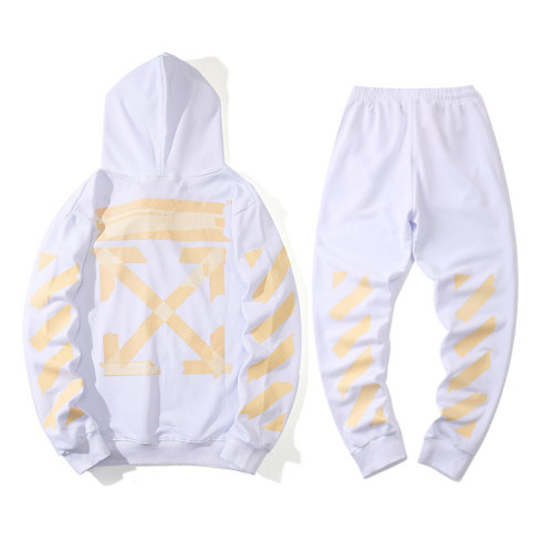 2020 Summer Fashion Hoodies& Pants Suits White