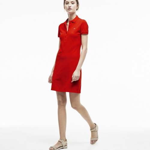 Women's Stretch Cotton Mini Piqué Polo Dress L003